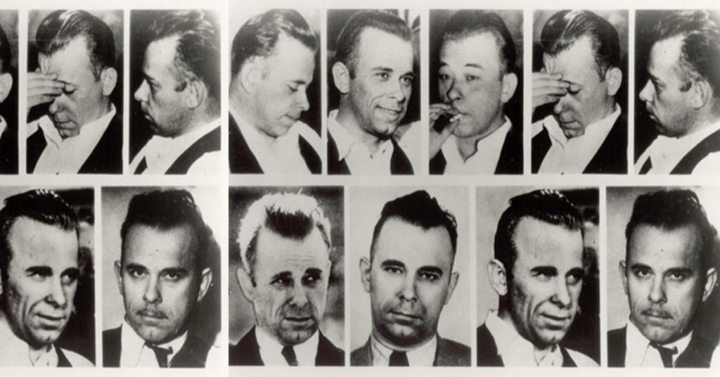 montage of John Dillinger images